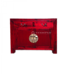 Red Asian Sideboard