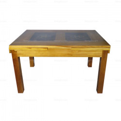 Dining Teak And Bamboo Table